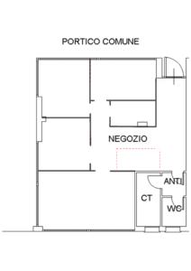 Planimetria ufficio studio medico Rosà Bassano del Grappa